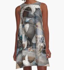 Koi Fish Pond A-Line Dress