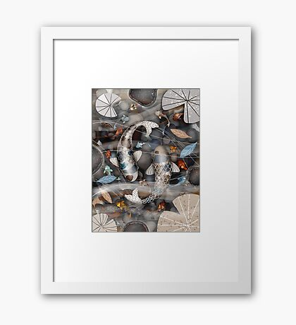 Koi Fish Pond Framed Print