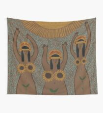 Sunflowers- The Inca Maidens of the Sun  Wall Tapestry