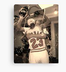 Michael Jordan NBA Championship Celebration Canvas Print
