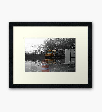 My Favorite School Bus Framed Print