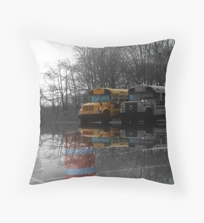 My Favorite School Bus Throw Pillow