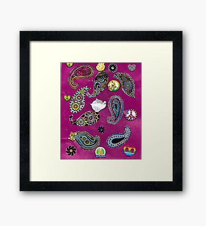 Paisleys For Peace  Framed Print