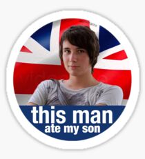 Dan Howell This Man Ate My Son Sticker