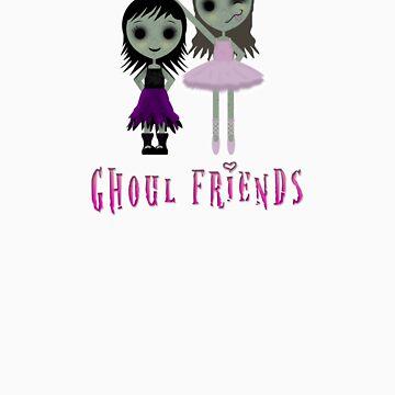 Ghoul Friends by kookyspookyart