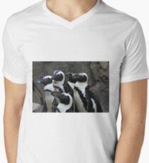 African Black-footed Penguin Men's V-Neck T-Shirt