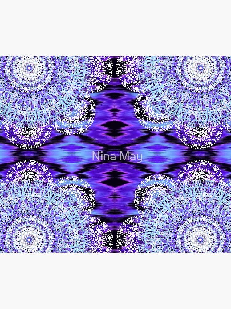 Violet Ikat Mandala by ninabmay