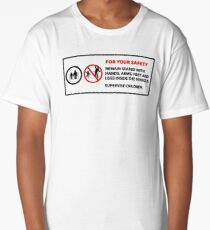 For Your Safety - No Dancing Warning  Long T-Shirt