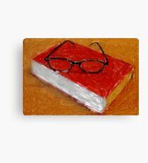 Book Under Glasses Canvas Print