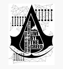 Assassin's Creed Live by the Creed Photographic Print