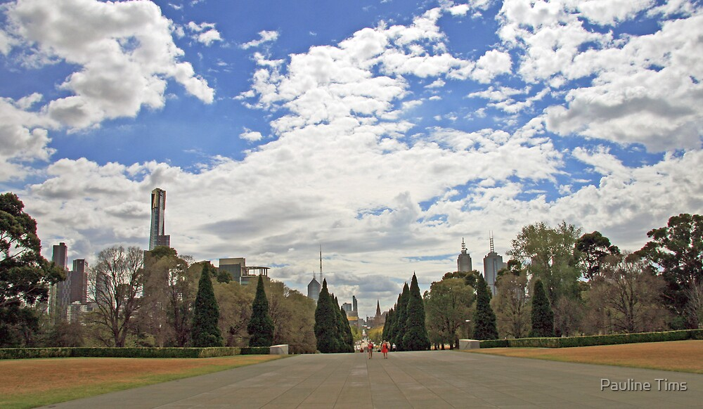 Melbourne from THE SHRINE by Pauline Tims