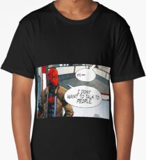 Red Hood - I Don't Want to Talk to People Long T-Shirt