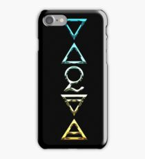 EARTH, AIR, SKY, WATER, SPIRIT V  - alchemy color chrome iPhone Case/Skin