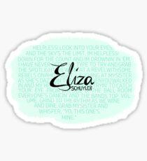 Eliza Schuyler - Helpless Sticker