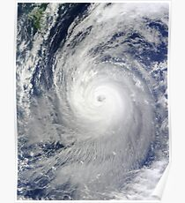 Fantastic Giant Hurricane / Super Typhoon Print - Seen from space Poster