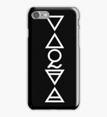 EARTH, AIR, SKY, WATER, SPIRIT V  - alchemy solid white iPhone Case/Skin