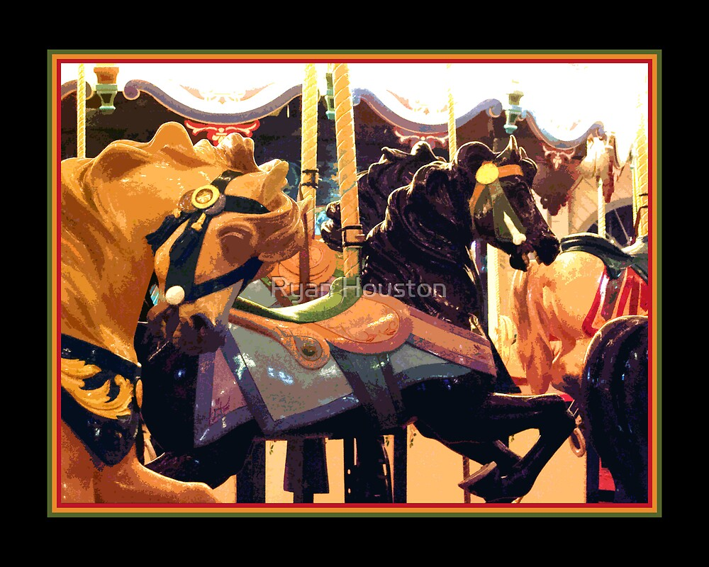 Santa Monica Carousel - Abstract by Ryan Houston