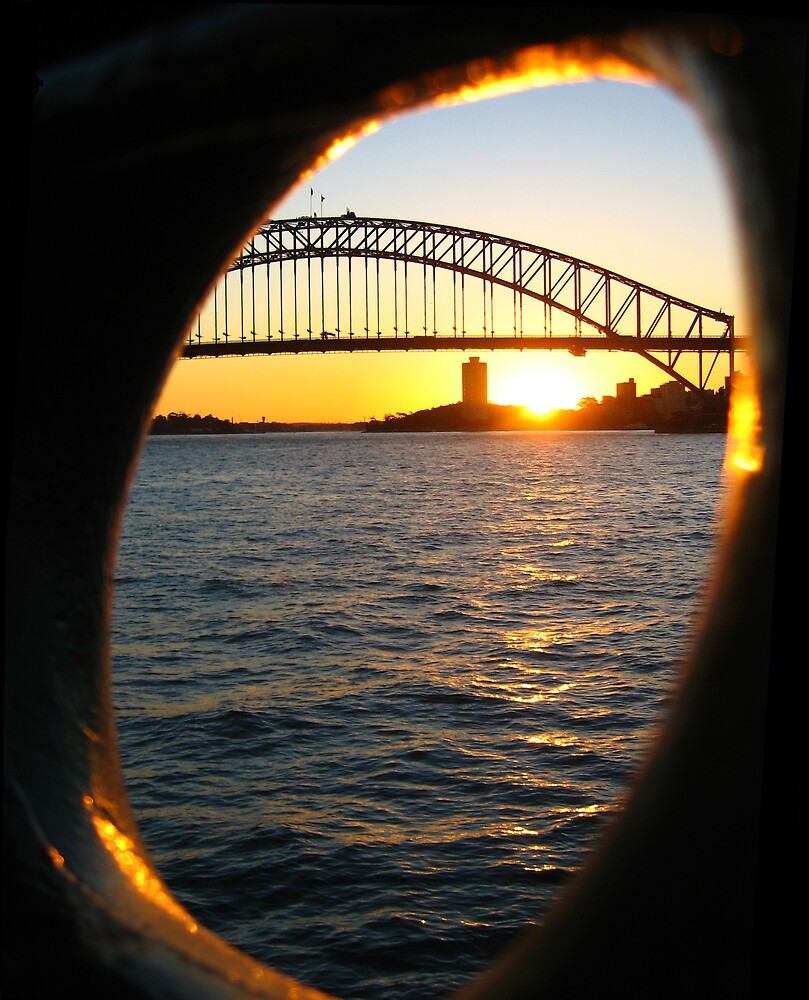Sunset over Sydney Harbour Bridge, Australia by mekana