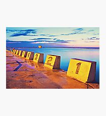 Merewether Ocean Baths in a Golden Sunrise Photographic Print