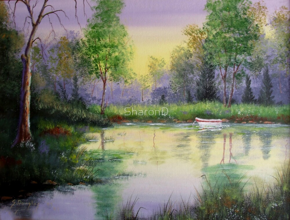 Spring Reflections - Painting by SharonD