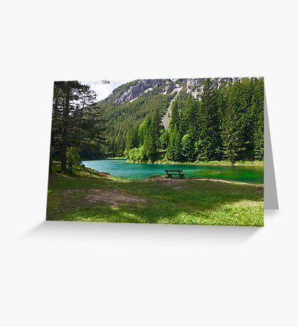 Bench at Green Lake Greeting Card