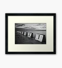 Merewether Baths Black and White Framed Print