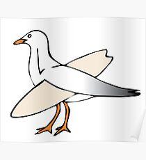 Gulls just wanna have fun! Poster