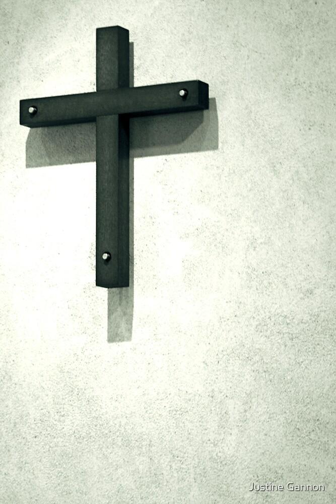 Crossed purpose by Justine Gannon