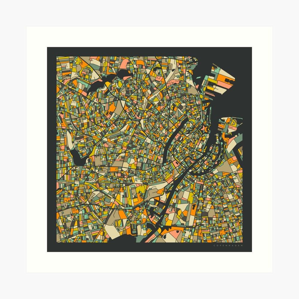 COPENHAGEN MAP Art Print