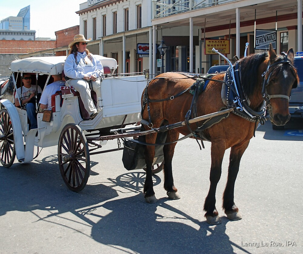 Horse-drawn carriage, Old Sac by Lenny La Rue, IPA