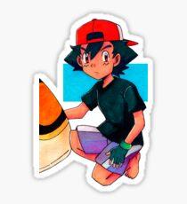 Ash (Movie 5) Sticker
