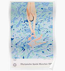 """David Hockney, """"Olympische Spiele München"""". 1972 Poster"""