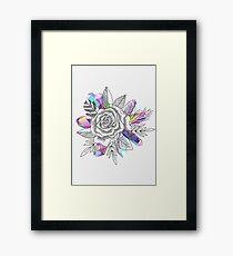 Rose and Crystals Framed Print