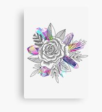 Rose and Crystals Canvas Print