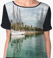 Yachts and Palm Trees - Impressions of Barcelona  Chiffon Top