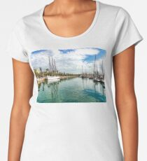 Yachts and Palm Trees - Impressions of Barcelona  Women's Premium T-Shirt