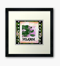 Yolanda - personalize your gift Framed Print