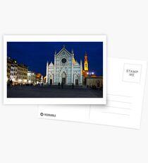 Blue Hour - Santa Croce Church, Florence, Italy Postcards