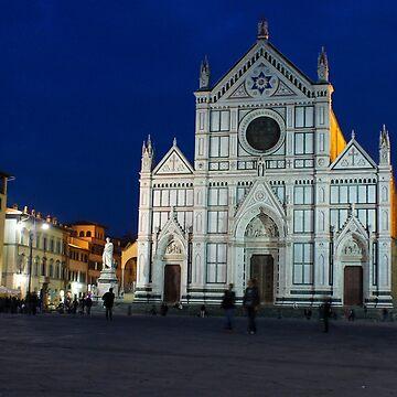 Blue Hour - Santa Croce Church, Florence, Italy by GeorgiaM