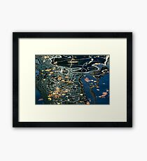Mesmerizing Autumn - Silky Swirls and Fallen Leaves Two Framed Print