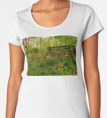 Dreamy Forest With Tulips - Impressions Of Spring Women's Premium T-Shirt