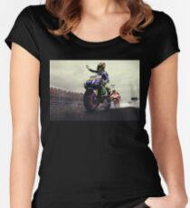 valentino rossi wallpaper Women's Fitted Scoop T-Shirt
