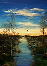 The forgotten valley - nature - waterscape - skyscape (ED01) by Elisabeth Dubois