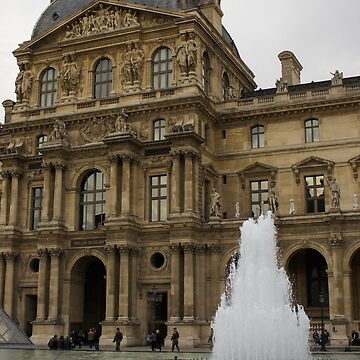 Of Pale Pastels and Palaces - the Louvre Courtyard in Paris by GeorgiaM
