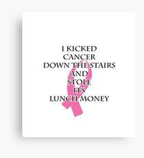 Breast Cancer Bully Canvas Print