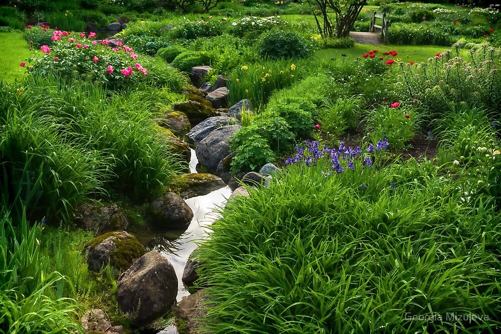 Lush Green Gardens - the Joy of June by Georgia Mizuleva