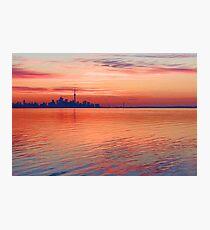Brilliant Colorful Morning - Toronto Skyline Impressions Photographic Print