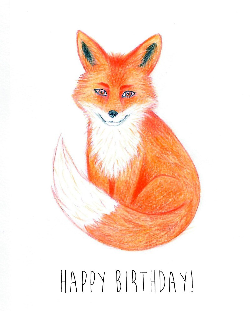 Red Fox Drawing By Heart2draw Redbubble