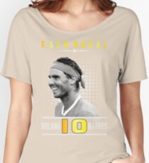Rafa Nadal 10  Women's Relaxed Fit T-Shirt