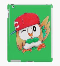 Rowlet / Mokuroh with Ash's hat iPad Case/Skin